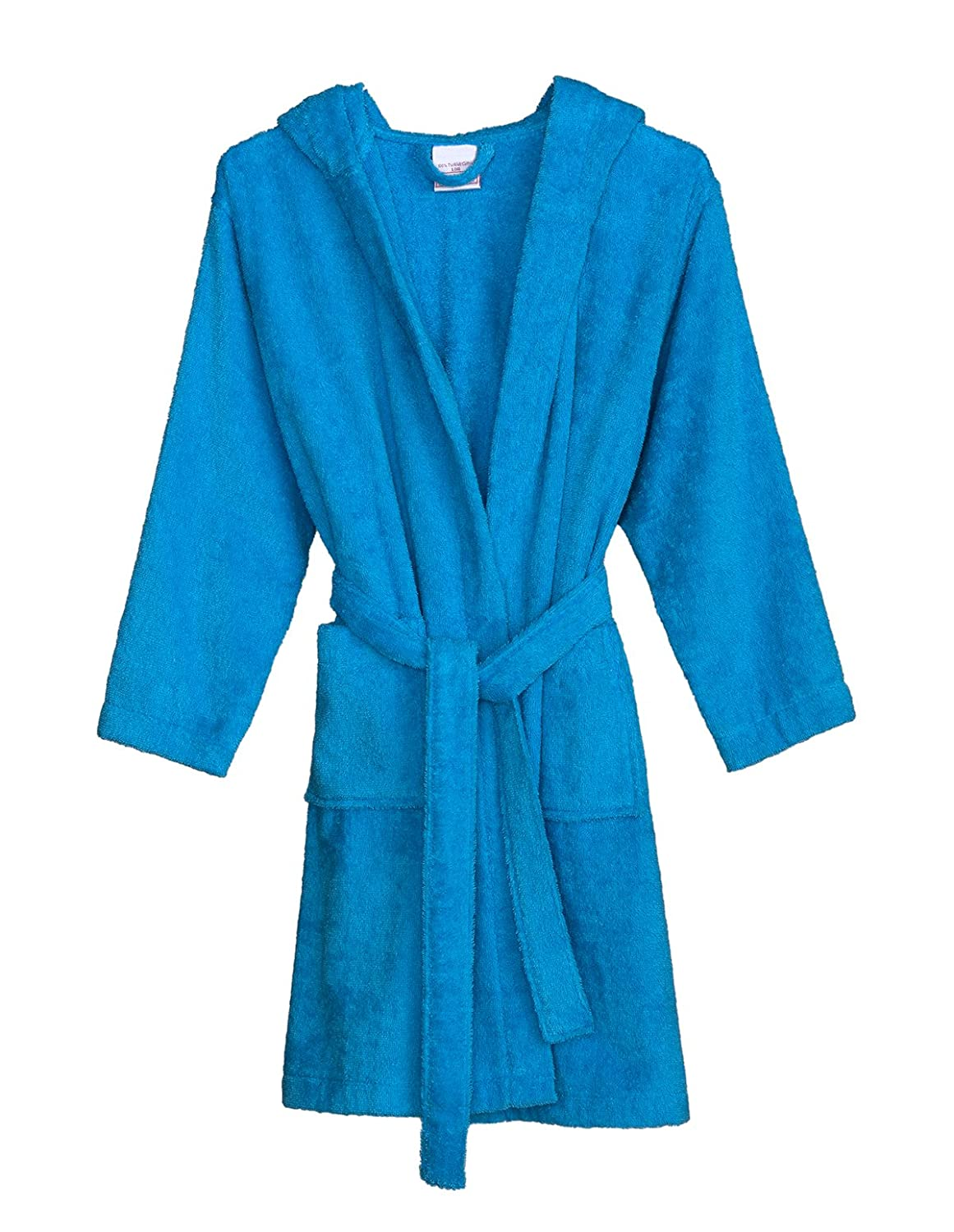 Made in Turkey TowelSelections Boys Robe Kids Hooded Cotton Terry Bathrobe