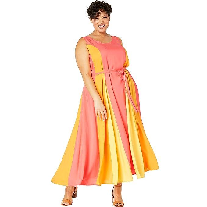 Jessica London Women\'s Plus Size Colorblock Maxi Dress