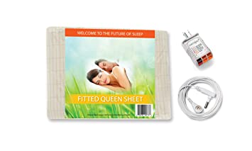 Wonderful Earthing Fitted Sheet Kit, Queen