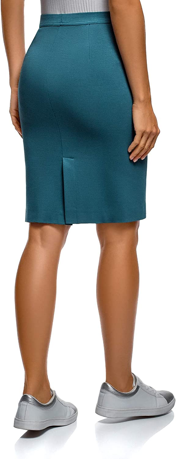 oodji Ultra Womens Jersey Skirt with Elastic Waistband