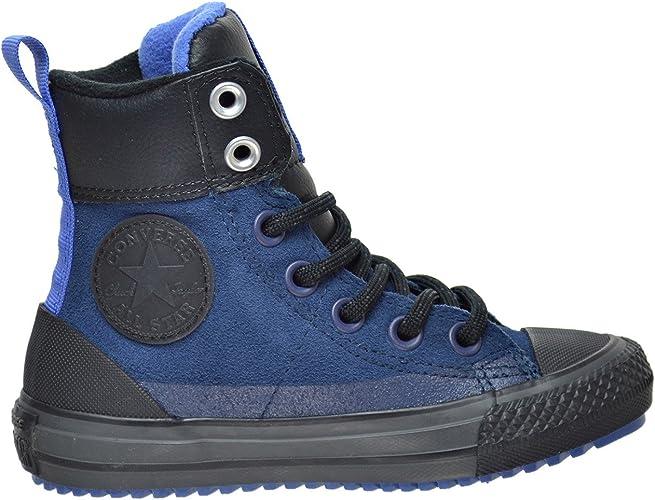 Converse Chuck Taylor All Star Asphalt Boot Hi NavyOxygen BlueBlack (Little KidBig Kid)