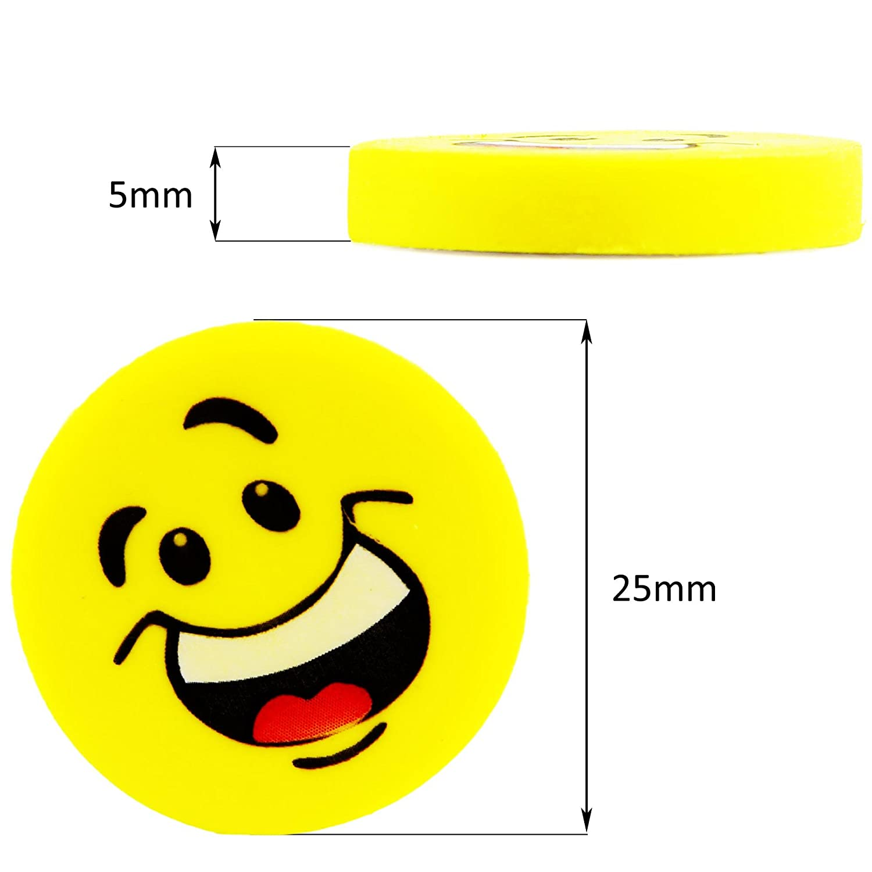 ECENCE 24x gomme per Cancellare Emoji gomme per Cancellare Smiley Smile regalino Ospiti Compleanno Bambini Bimbi 13020206