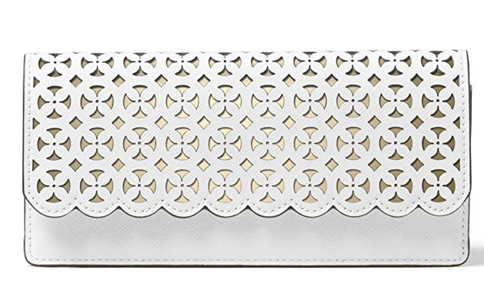 ecd27f0a672e Image Unavailable. Image not available for. Color: Michael Kors Womens Desi  Leather Metallic Clutch Wallet ...