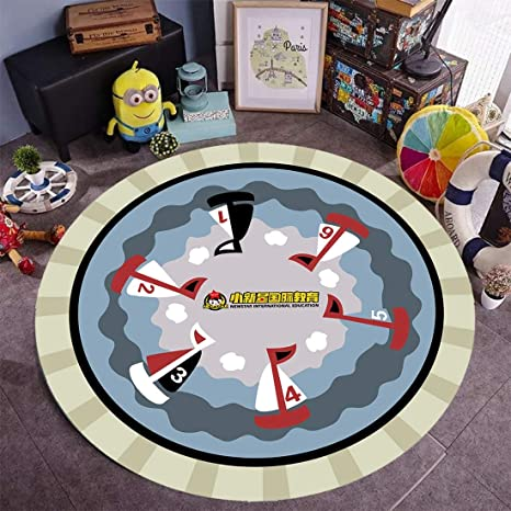 Baby Mat Floor Round Play Rug Crawling Home Carpet for Kids Playing