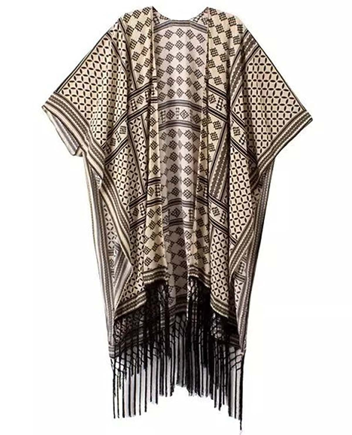 1920s Style Wraps Solid Light Loose Chiffon Sheer Kimono Cardigan Blouses  AT vintagedancer.com