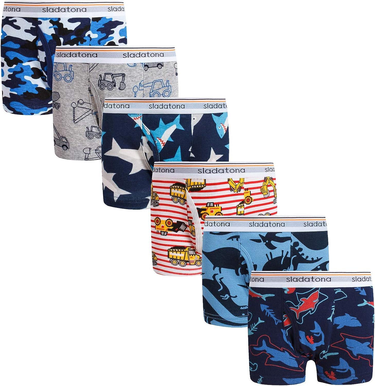 Boys Boxer Briefs Shorts Cotton Dinosaur Shark Baby Toddler Underwear for Kids Boy 3/6 Pack