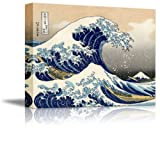 """Amazon Price History for:Wall26 Canvas Print Wall Art - The Great Wave Off Kanagawa by Katsushika Hokusai Reproduction on Canvas Stretched Gallery Wrap. Ready to Hang -18""""x24"""""""