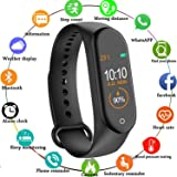 Rolgo1 Smart M4 Band Fitness Tracker Watch OLED Touchscreen - Black, BUY1 GET 3 Free