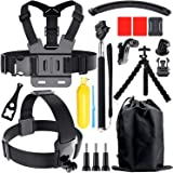 Accessories Kit for Gopro Hero 8 7 6 5 4, Action Camera Accessories Compatible with Xiaomi Yi DJI AKASO APEMAN Campark SJCAM