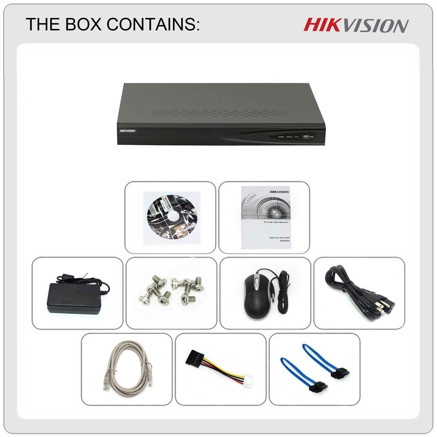 HIKVISION 16CH 8 Ports PoE DS-7616NI-E2/8P NVR Network Video Recorder with  up to 5MP Resolution Recording