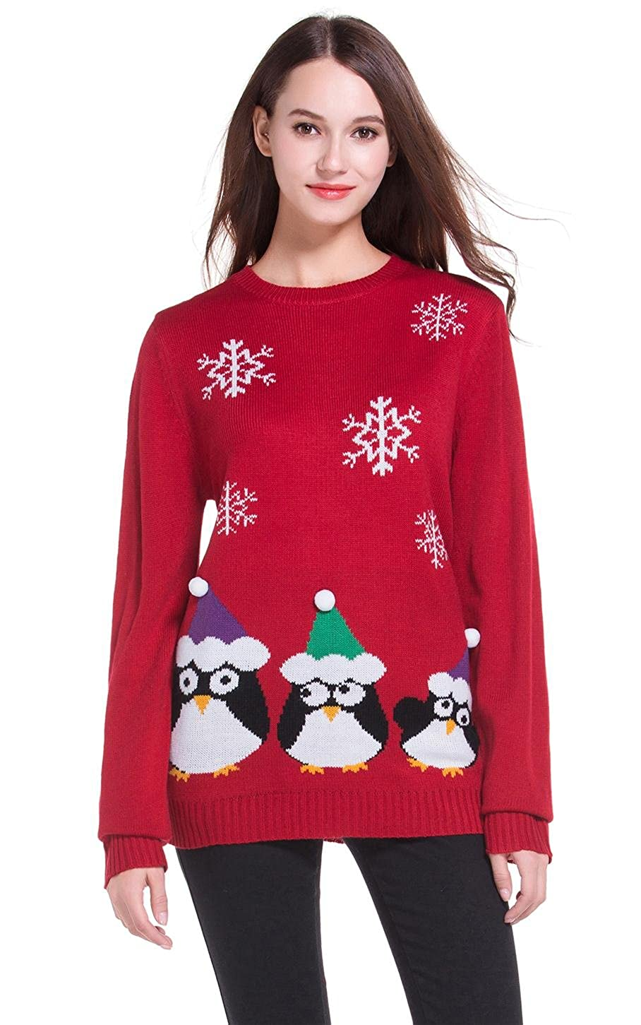39991ab1af35 Top1   daisysboutique  Women s Christmas Cute Penguin Knitted Sweater Girl  Pullover