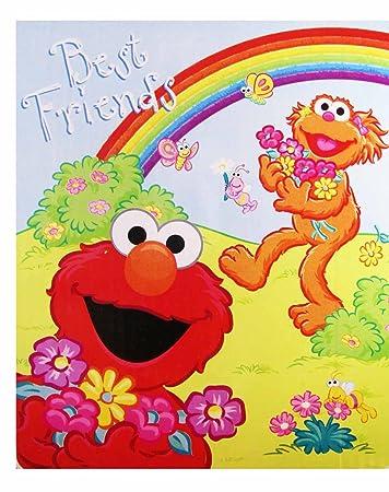 Amazon.com  Sesame Street Elmo And Zoe Snuggle Blanket  Baby 7c519fc24