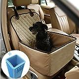 Coprisedile per cane, Lemonda coprisedile anteriore singolo, Coperta telo per proteggere sedile di automobile per animali domestici, coprisedile antiscivolo ed impermeabile (Beige)