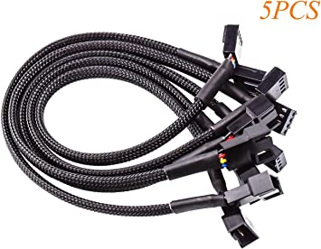 FEIGO 27cm 4 Pines PWM Cables de Ventilador Extensión Cable ...
