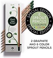 Sprout vende matite colorate  di legno naturale biologico. Grazie al seme al loro interno, quando sono finite basta seminarle e nascerà una pianta!
