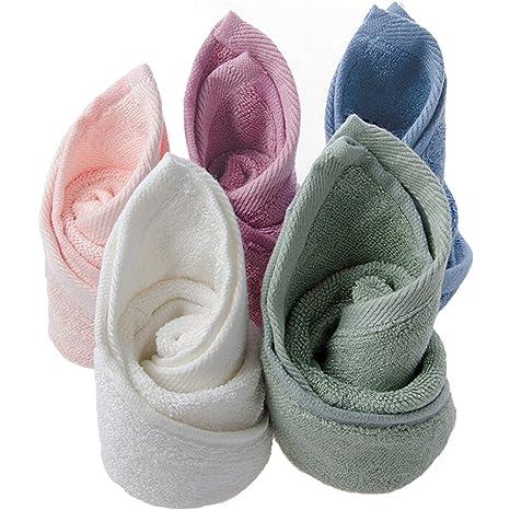 BLUESTAR bambú natural bebé paños, toallas de bebé absorbente suave para piel sensible, Baby
