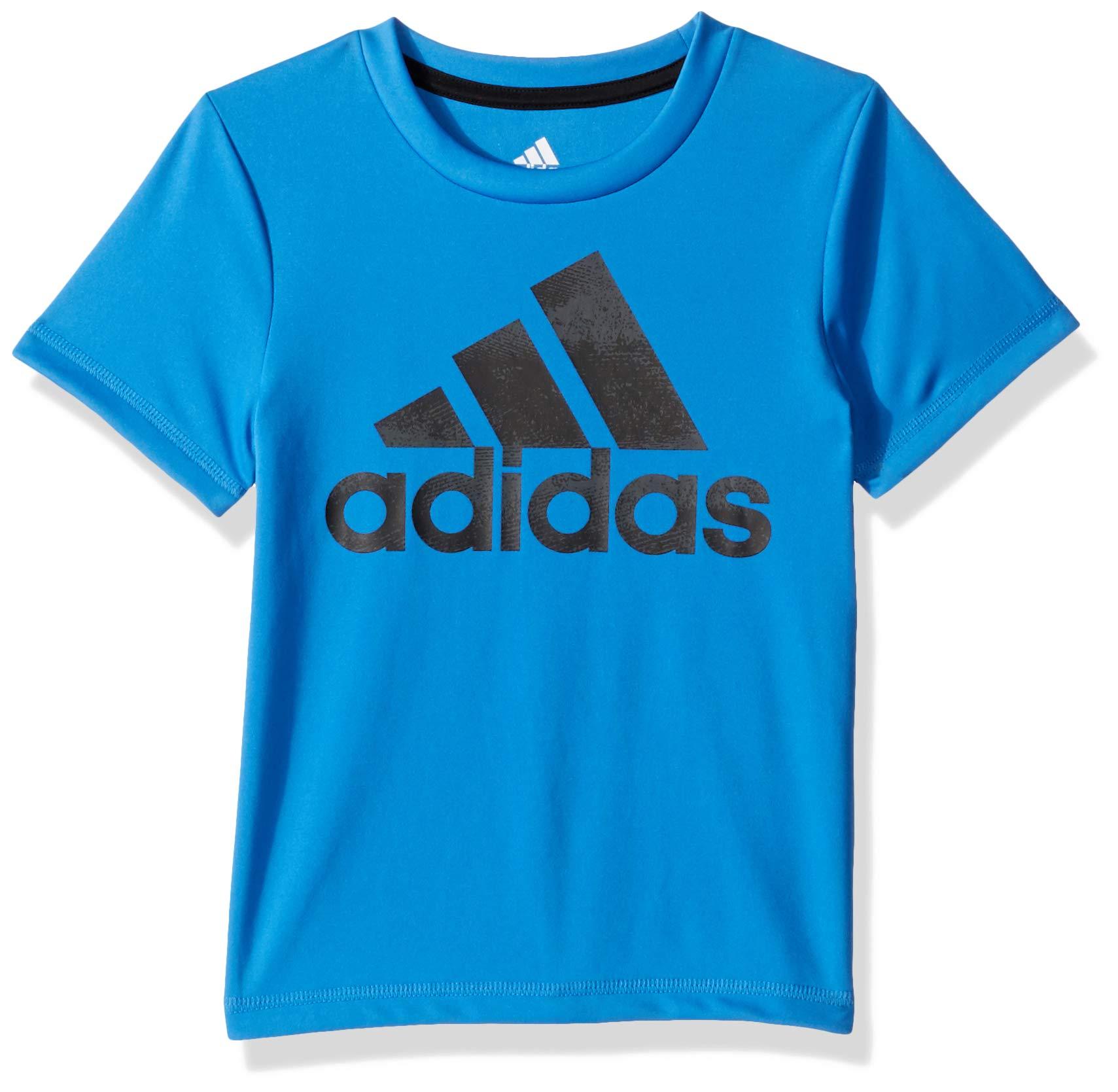 adidas Boys' Toddler Short Sleeve Logo Tee Shirt, Fusion ADI Dark Blue 3T