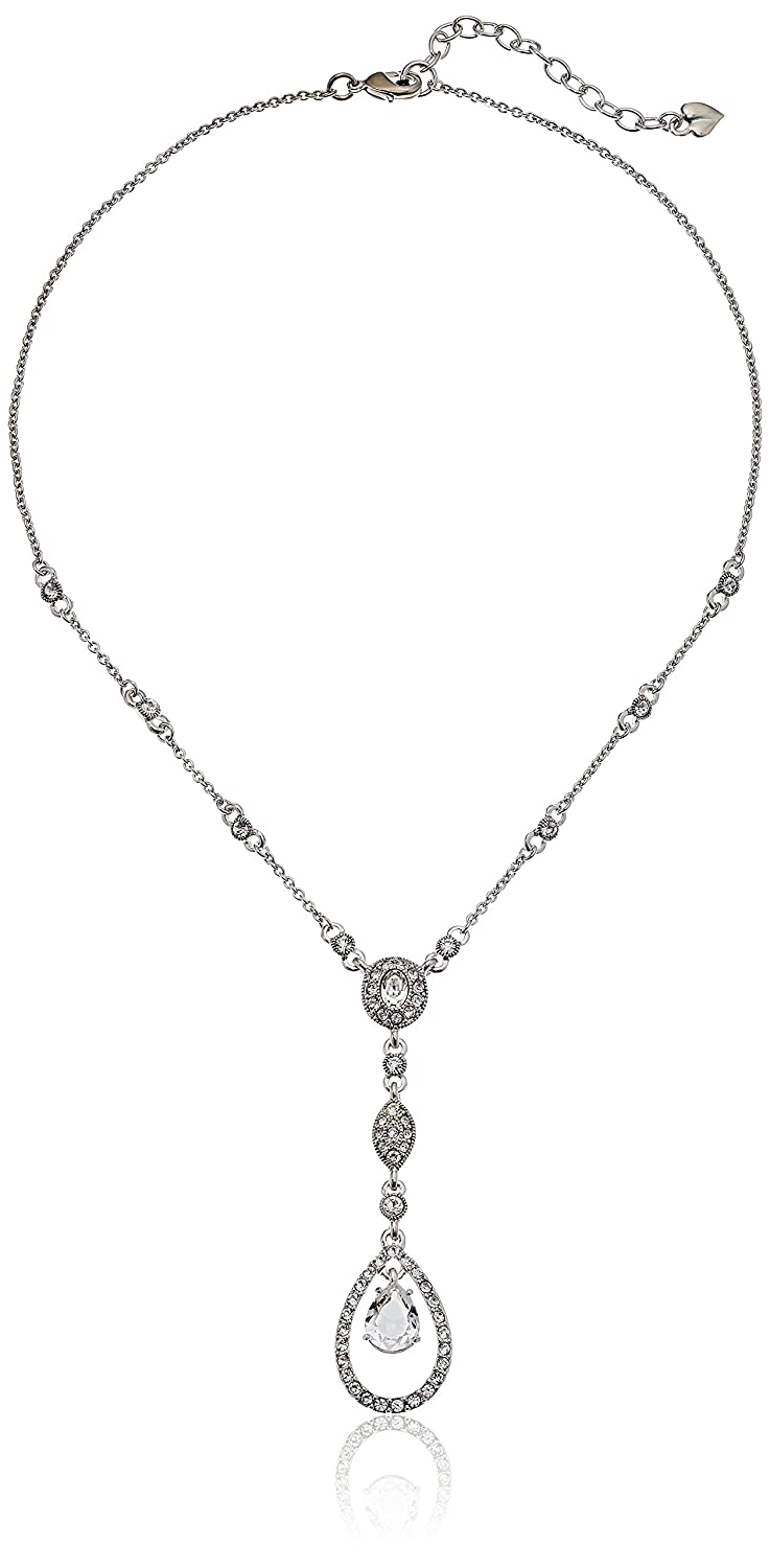 "Amazon.com: Carolee Illusion White Y-Necklace, 15.5"" + 2"" Extender: Jewelry"