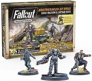 Modiphius Fallout - Wasteland Warfare - Brotherhood of Steel Elder Maxon and Capt. Kells