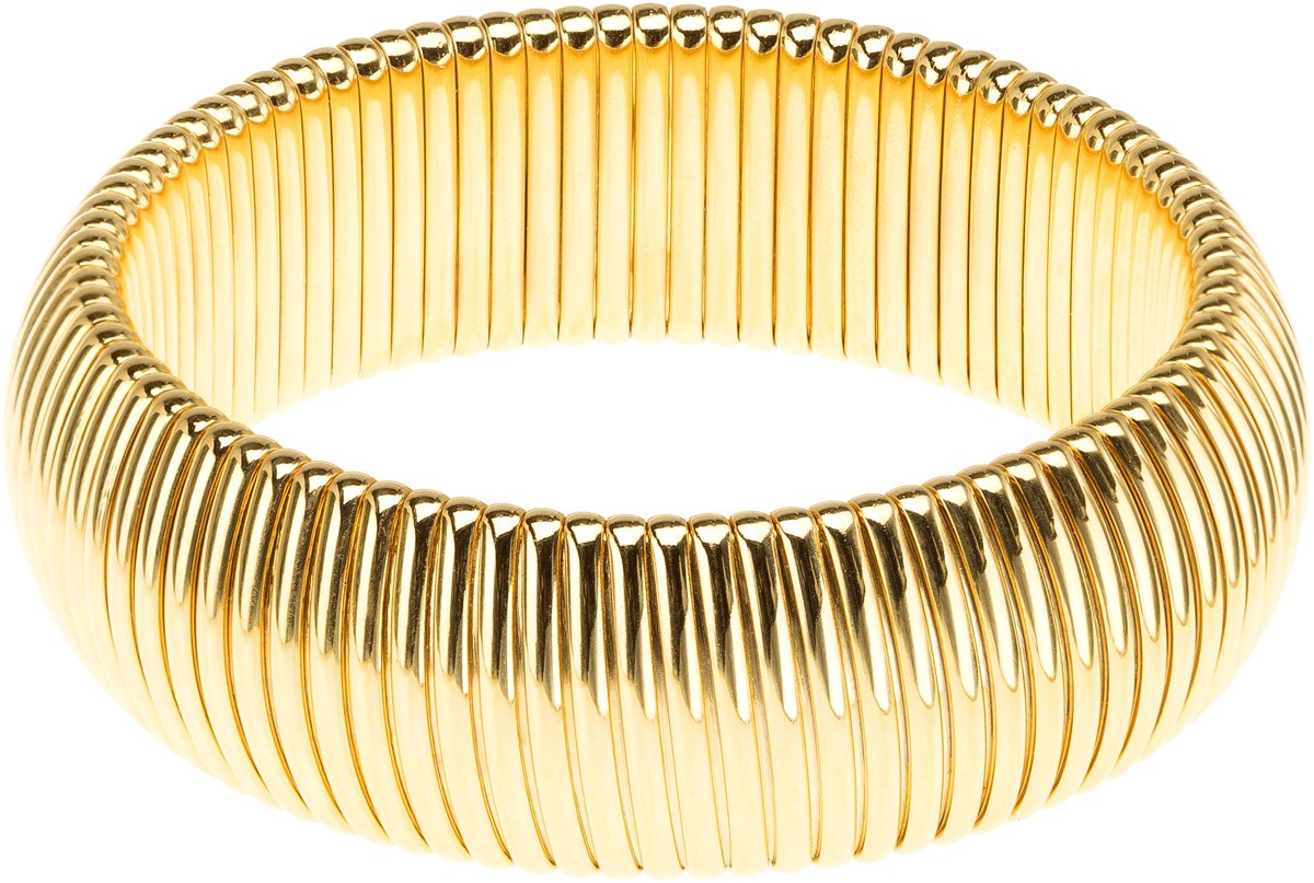 Janis Savitt Single Cobra Bracelet - High Polished Gold