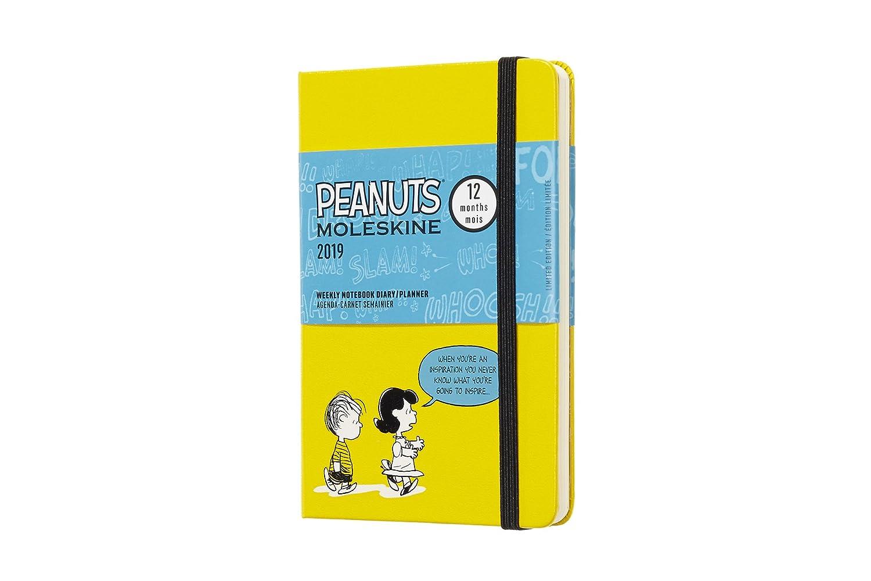 Moleskine DPE12WN2Y19 - Libreta semanal 12m de edición limitada Peanuts de bolsillo, color amarillo