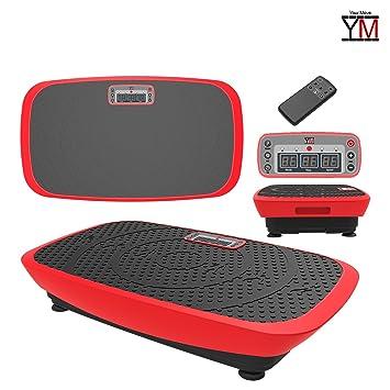 Plataforma vibratoria oscilante 3d pantalla mando Fitness 2 motores ...