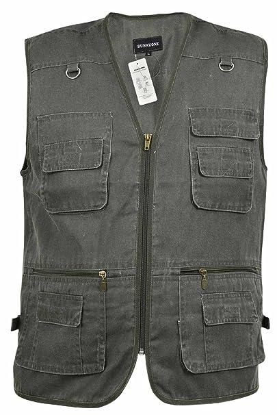 best service 9175b eeea8 True Face Mens Gilet Body Warmer Safari Waistcoat Multipocket Zip Top