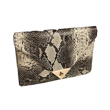 99febeb247 CRAVOG Femme Bourse Peau Portefeuille Mode Pochette Sac à Main Enveloppe  Dîner Soirée Serpent: Amazon.fr: Vêtements et accessoires