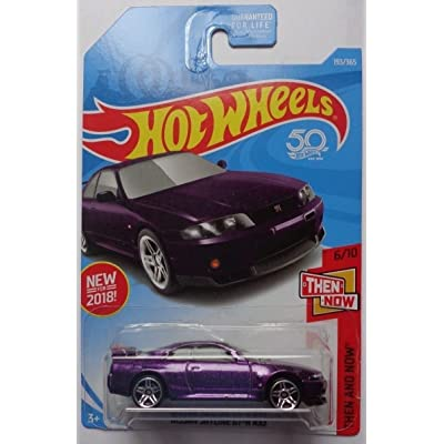 Hot Wheels 2020 50th Anniversary Then And Now Nissan Skyline GT-R R33 193/365, Purple: Toys & Games