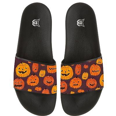 Cute Pumpkin Skid-proof Flat Flip Flops Beach Pool Slide Sandal Bath Floor Slippers For Men And Women