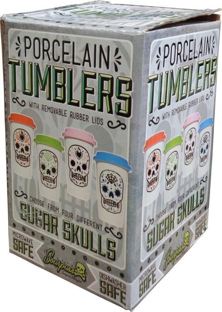 Blue Sugar Skull Tumbler from Sourpuss