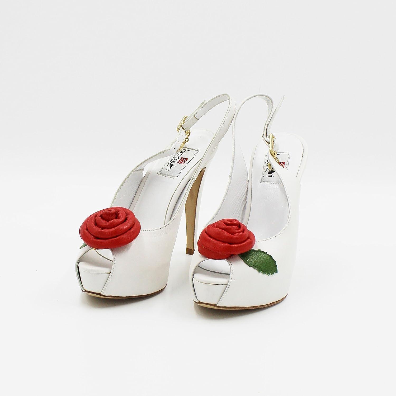Braccialini Damen Pumps Weiß Weiß Pumps Bianco, Rosso - fa8f29
