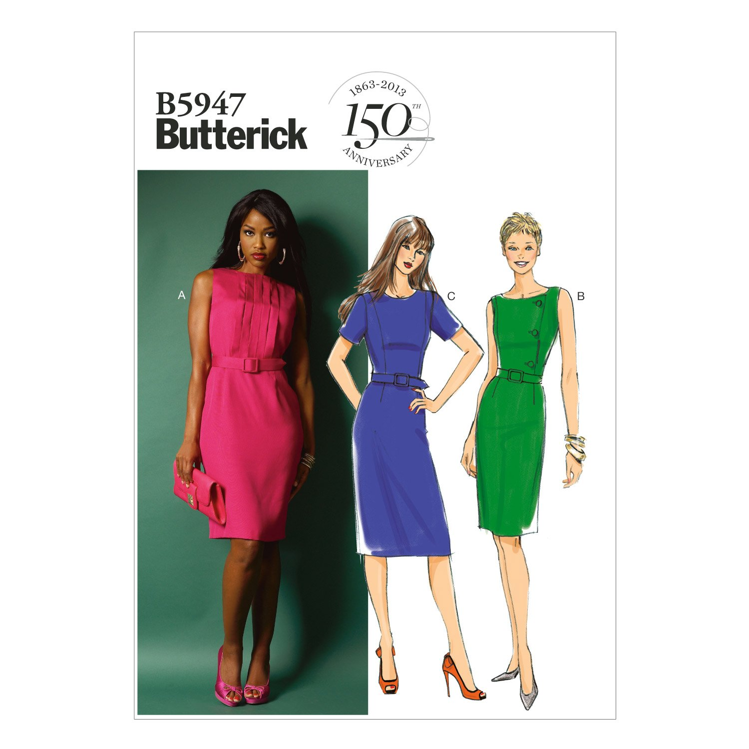 Butterick Patterns B5947 Misses'/Misses' Petite Dress and Belt Sewing Templates, Size F5 (16-18-20-22-24) by BUTTERICK PATTERNS   B00F0W0YRW