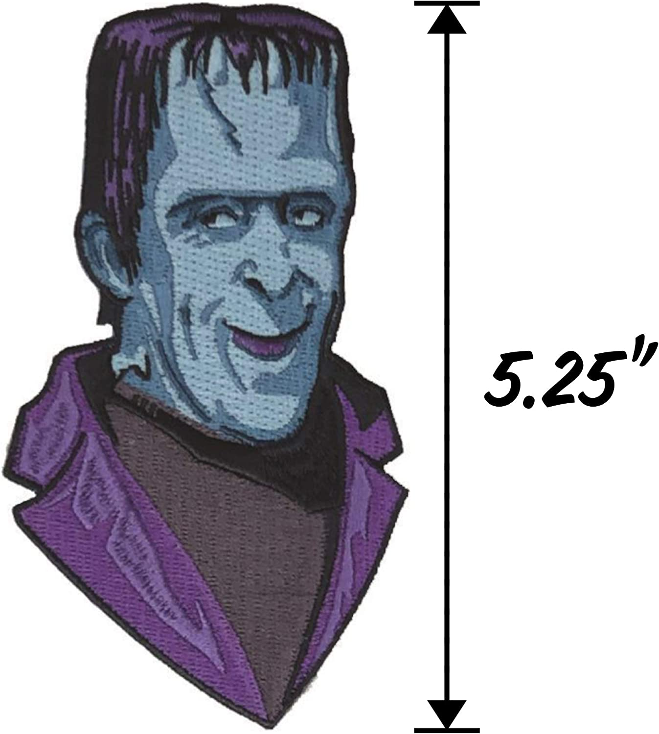The Munsters Retro-a-go-go Giant Embroidered Iron On Applique Patch Herman Munster