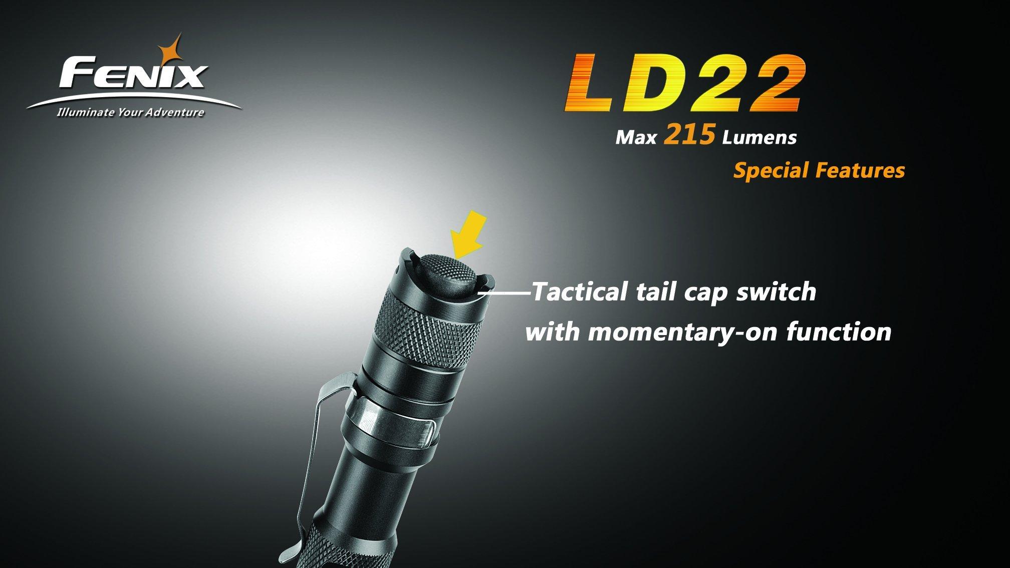 Fenix LD22 Flashlight, Black by Fenix (Image #6)