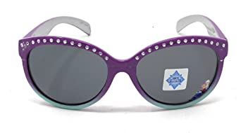515fa56abaa Disney Frozen Elsa and Anna Girl s Sunglasses in Purple and Teal with Studs  - 100%
