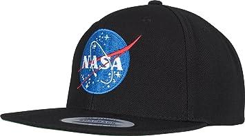 Mister Tee NASA Snapback Unisex Cap In Black For Men And Women Logo ... 625fd9708b2