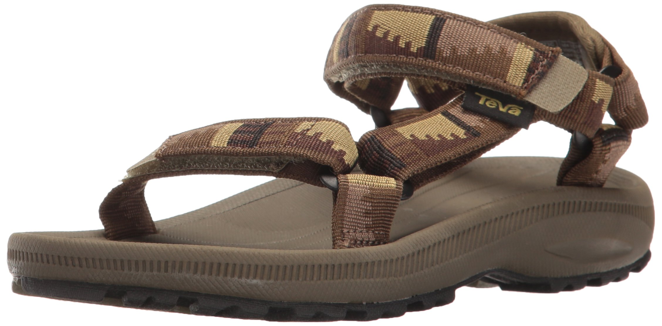 Teva Boys' Hurricane 2 Sandal Peaks Brown/Olive 5 M US Big Kid