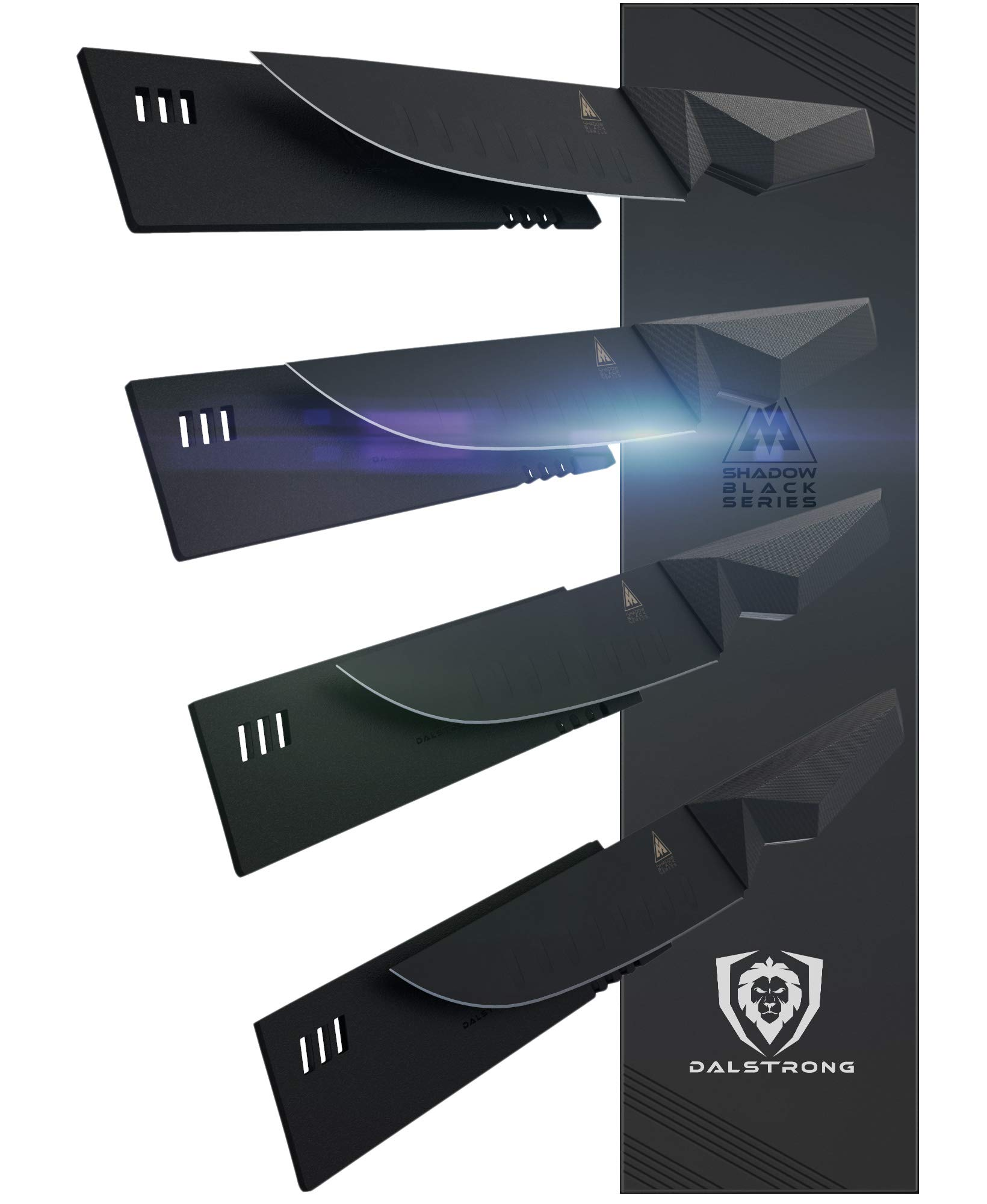Dalstrong - Shadow Black Series - Black Titanium Nitride Coated German HC Steel - Sheath (5'' Steak Knife Set)