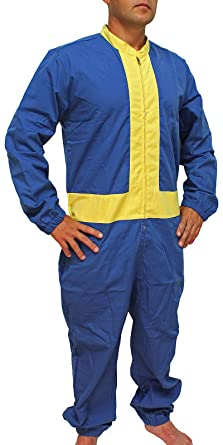 fallout 4 men s vault boy 111 jumpsuit cosplay costume lg xl