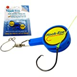 Hook-Eze Fishing Gear Knot Tying Tool | Line Cutter| Cover Hooks on Fishing Rods Travel Safely Fully Rigged for Saltwater Freshwater Kayak Fishing