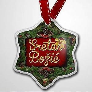 Christmas Ornaments for Kids Merry Christmas In Croatian From Croatia Bosnia And Herzegovina Holiday Xmas Tree Ornaments Decor Present Christmas Ornaments Pandemic Xmas Decor Holiday present