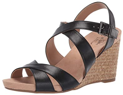 0cae3105a97a LifeStride Women s Harbor Wedge Sandal Black 10 ...
