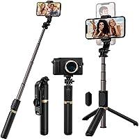 Blukar Kij do selfie, 4 w 1 wysuwany statyw Bluetooth do selfie Stick – obracany o 360° stabilny statyw stojak z…