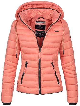 Navahoo Damen Jacke Steppjacke Übergangsjacke Gesteppt Stepp Frühjahr B650   Amazon.de  Bekleidung ea3600ab3d