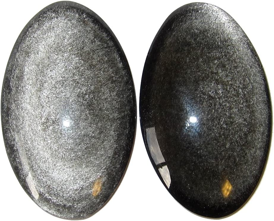 Stunning Silver Sheen Obsidian Cushion Shape Cabochon Loose Gemstone 30 Ct For Making Jewelry,Size 27X27X4 mm S-5345 Top Grade Qualtiy