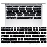 MacBook Pro 13インチ 2016 Touch Bar非搭載モデルA1708 キーボードカバー【MaxKu】 キーボード防塵カバー USキーボード 英語配列 キースキン 多色選択可能 (ブラック)