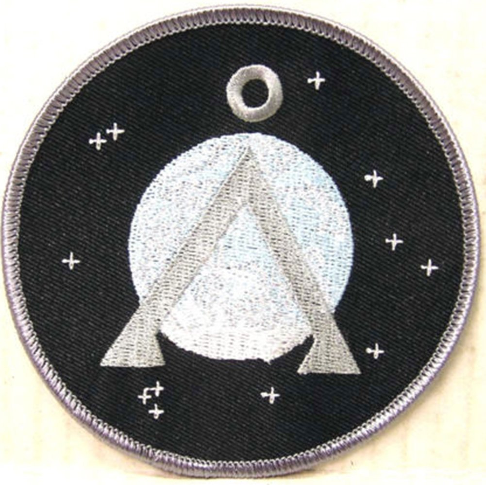 Stargate SG-1 Earth Grey Border 9cm Patch Embroidered Sew or Iron on Badge