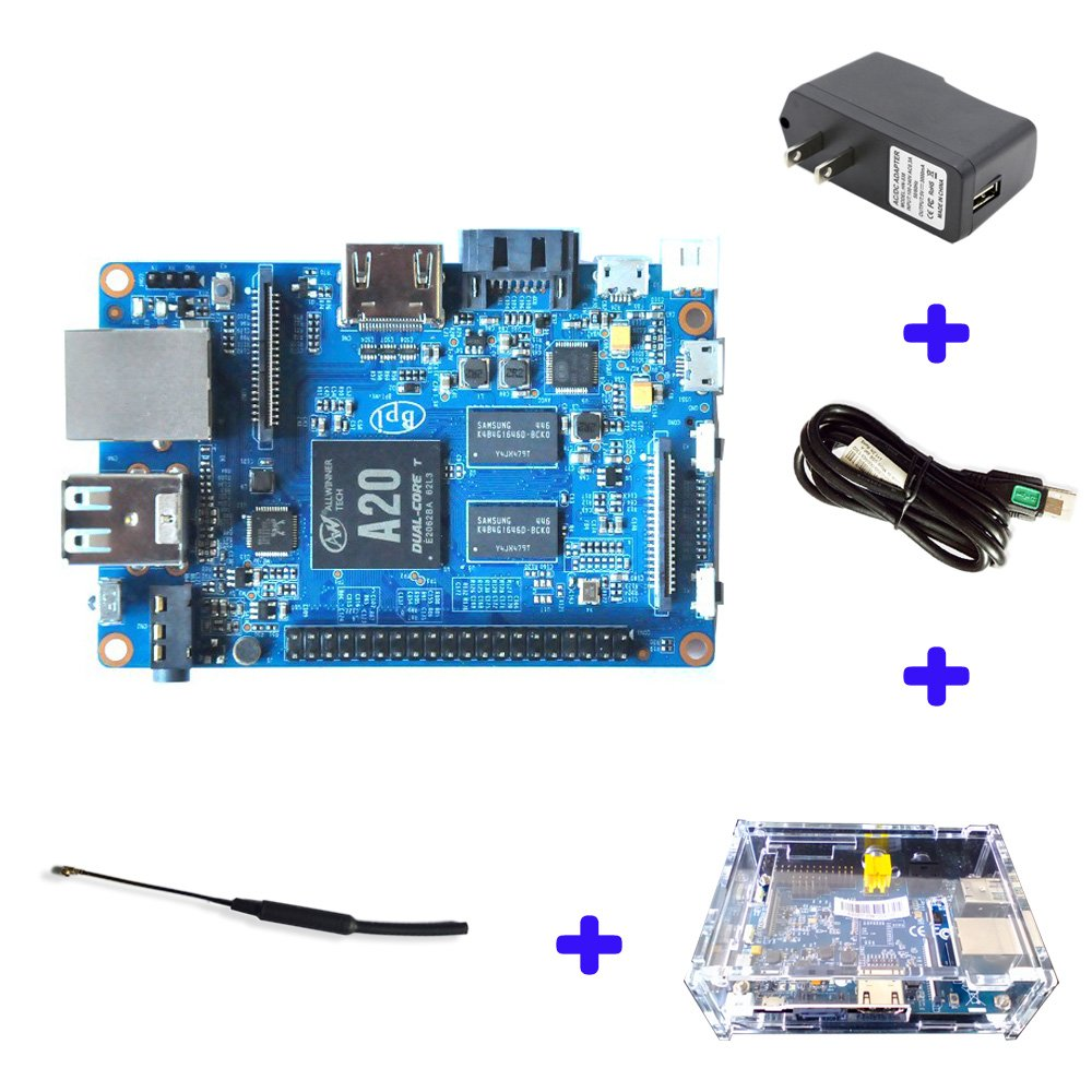 Original Banana Pi BPI M1 Plus A20 Dual Core 1GB RAM Open-source development board single board computer Raspberry pi compatible, Ship with Powerful Accessories by SmartFly Info