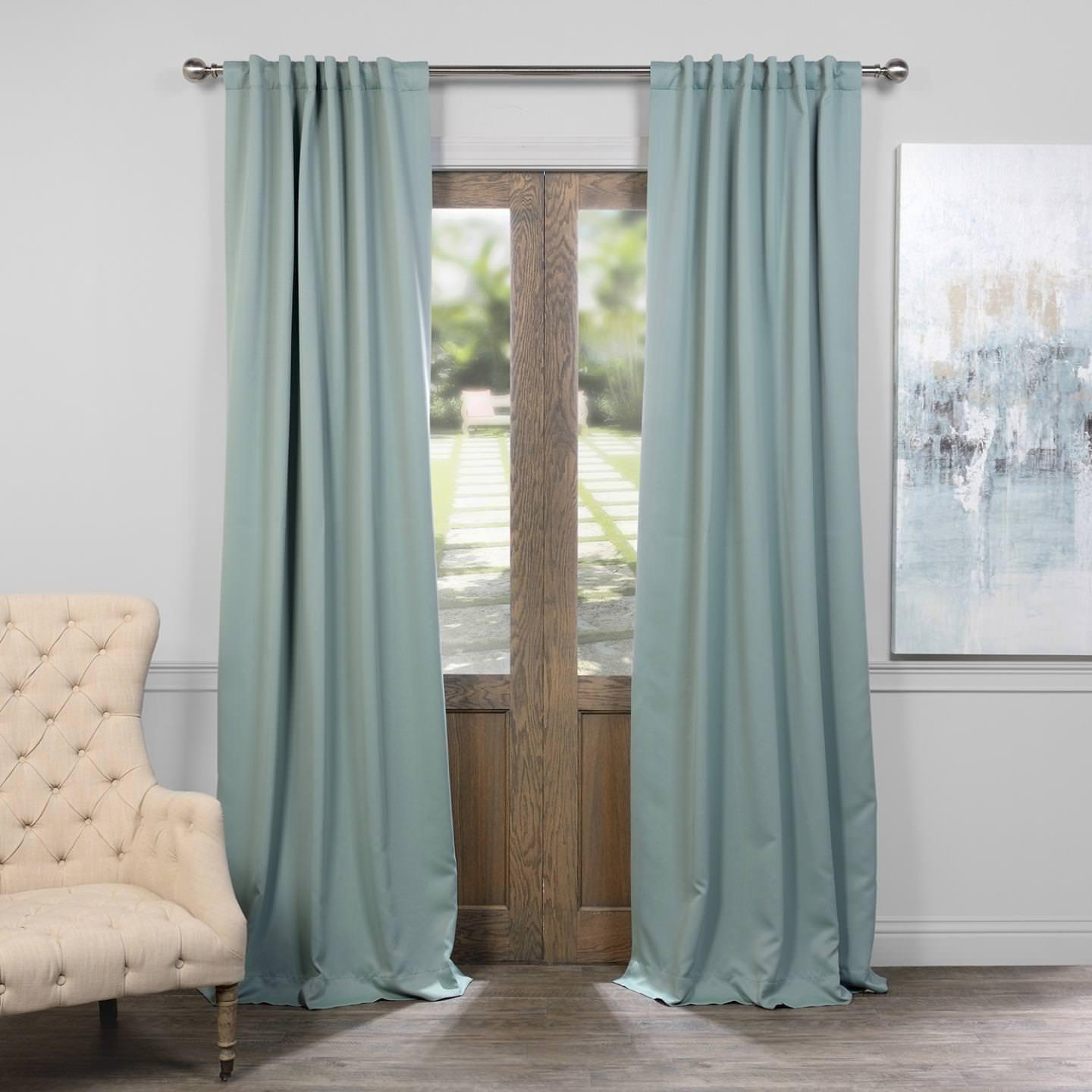 Juniper Berry 50 x 108 HPD HALF PRICE DRAPES BOCH-194906-108 Room Darkening Curtain 50 x 108 Dark Mallard 1 Panel